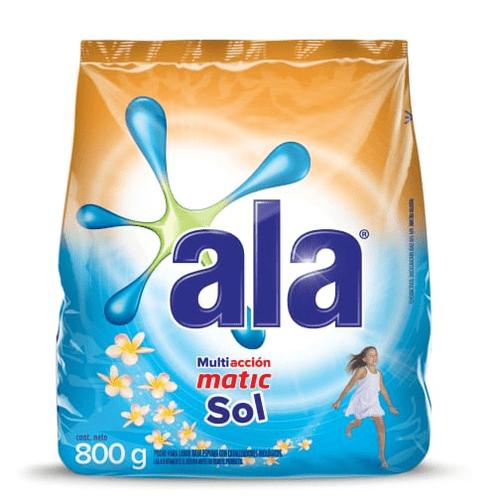 Jabón en Polvo Ala Sol Matic paquete